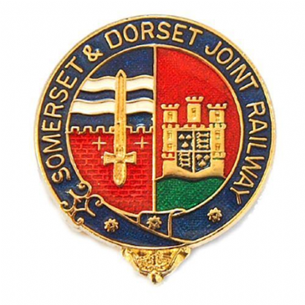 Somerset and Dorset Joint Railway Coat of Arms Collectors Badge